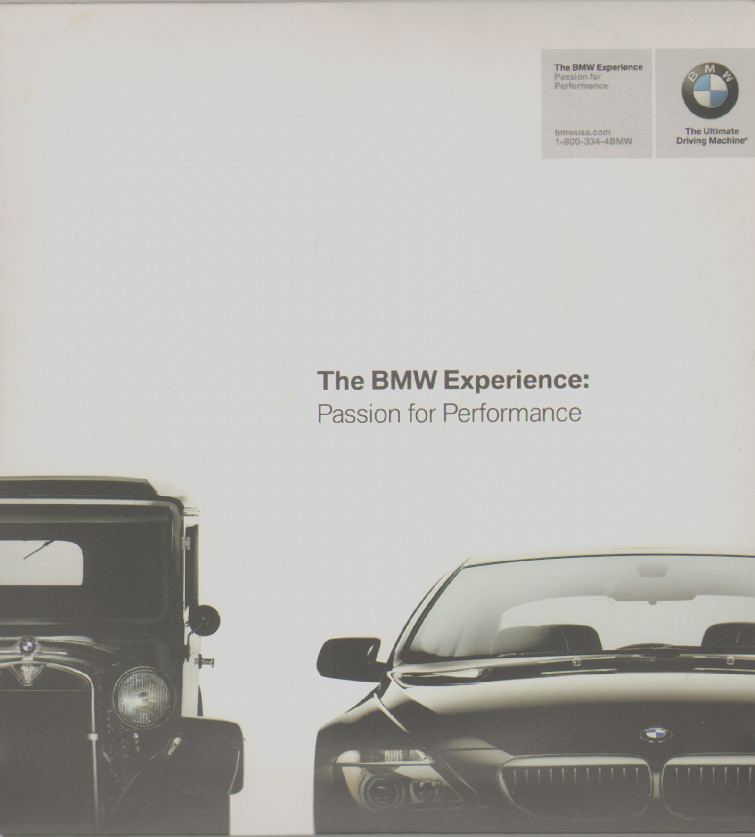 BMW THE ULTIMATE DRIVING MACHINE Contains the BMW Experience - Passion for Performance - 5 Dvds; Uniquely BMW; BMW Welcome - Ownership Experience