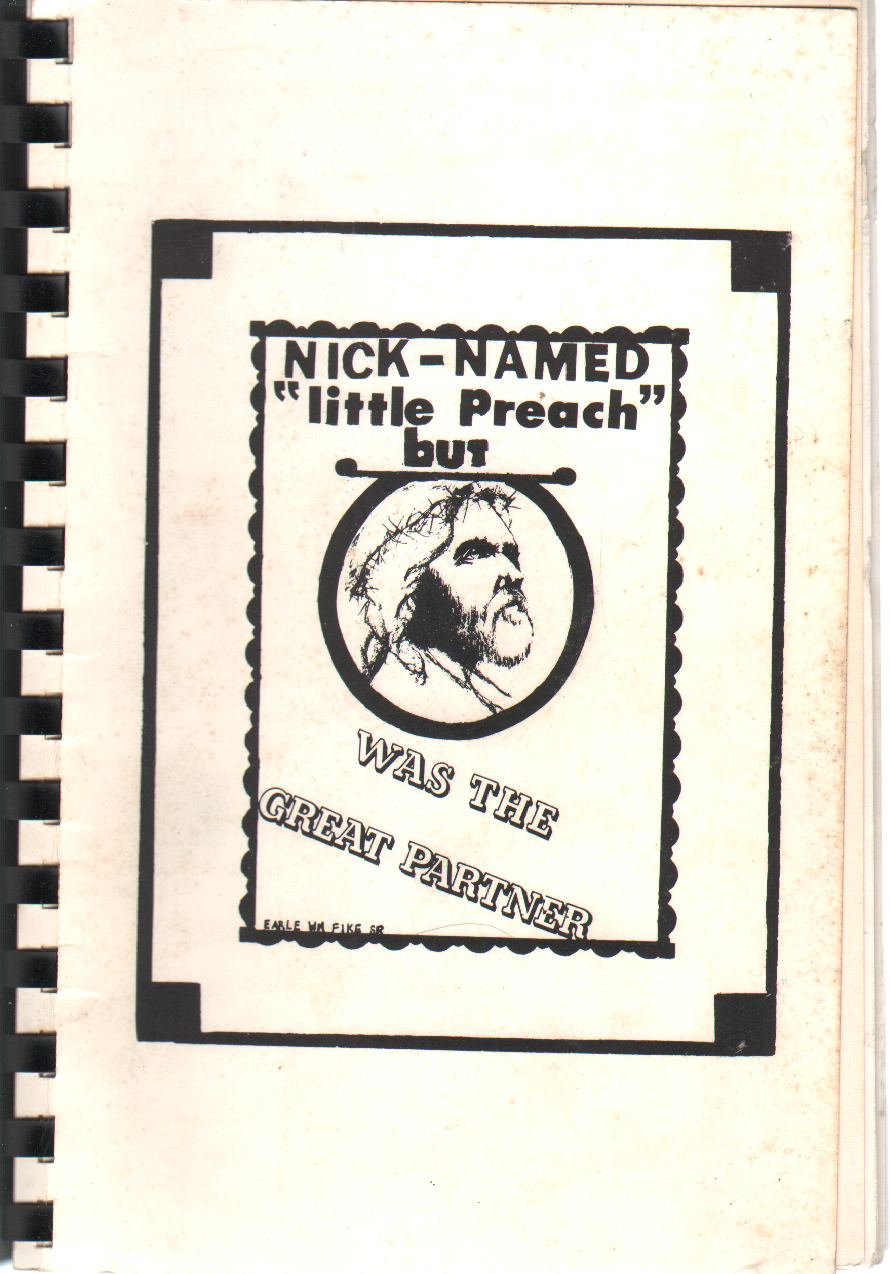"""Image for NICK-NAMED """"LITTLE PREACH"""" But [Christ] Was the Great Partner"""
