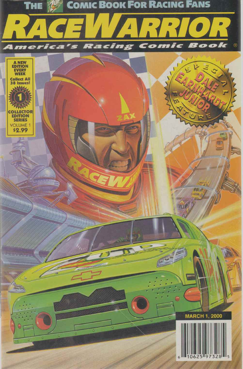 RACEWARRIOR America's Racing Comic Book Issue 1, Collins, Terry