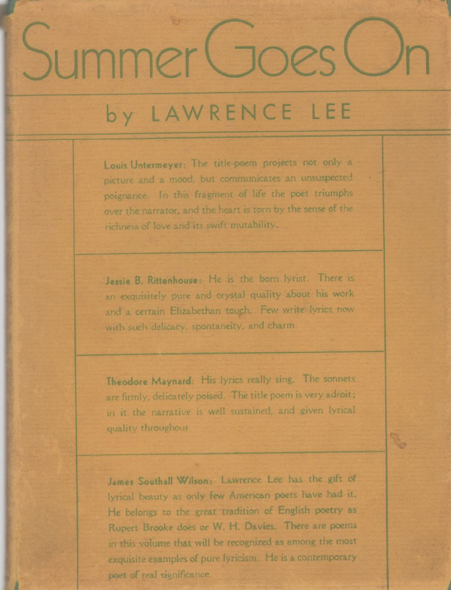 SUMMER GOES ON, Lee, Lawrence