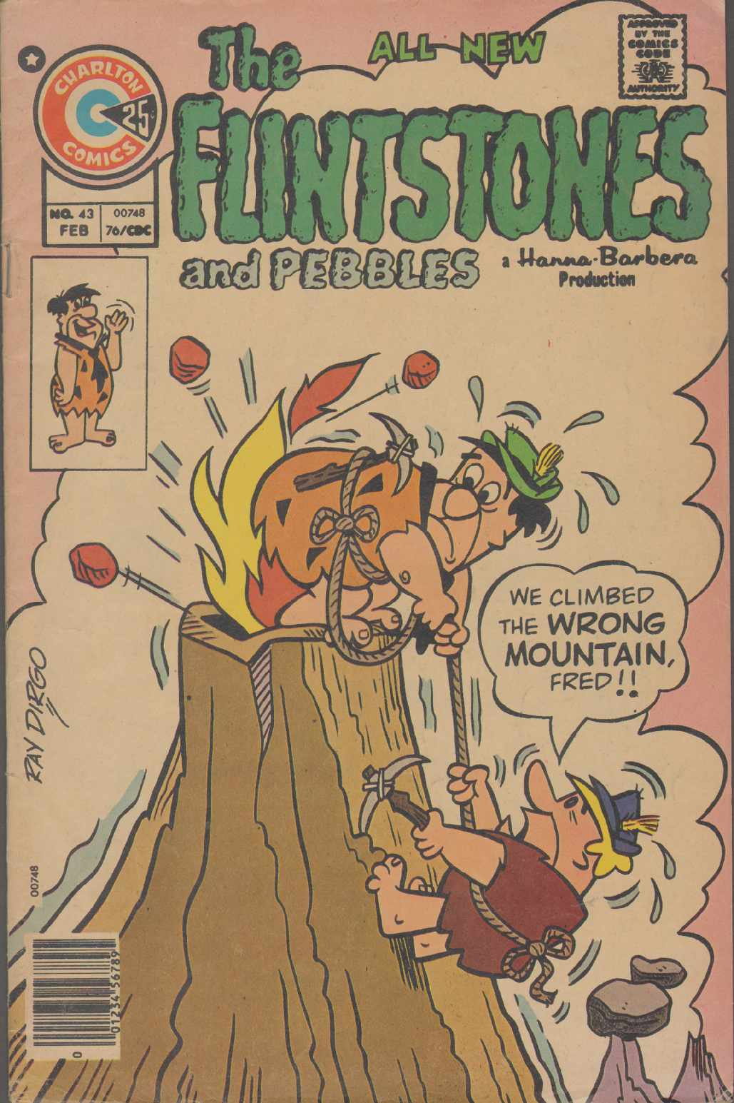THE ALL NEW FLINTSTONES And Pebbles Vol. 7, No. 43 February 1976, Charlton Comics