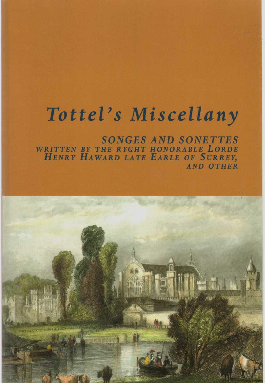 TOTTEL'S MISCELLANY, Tottel, Richard