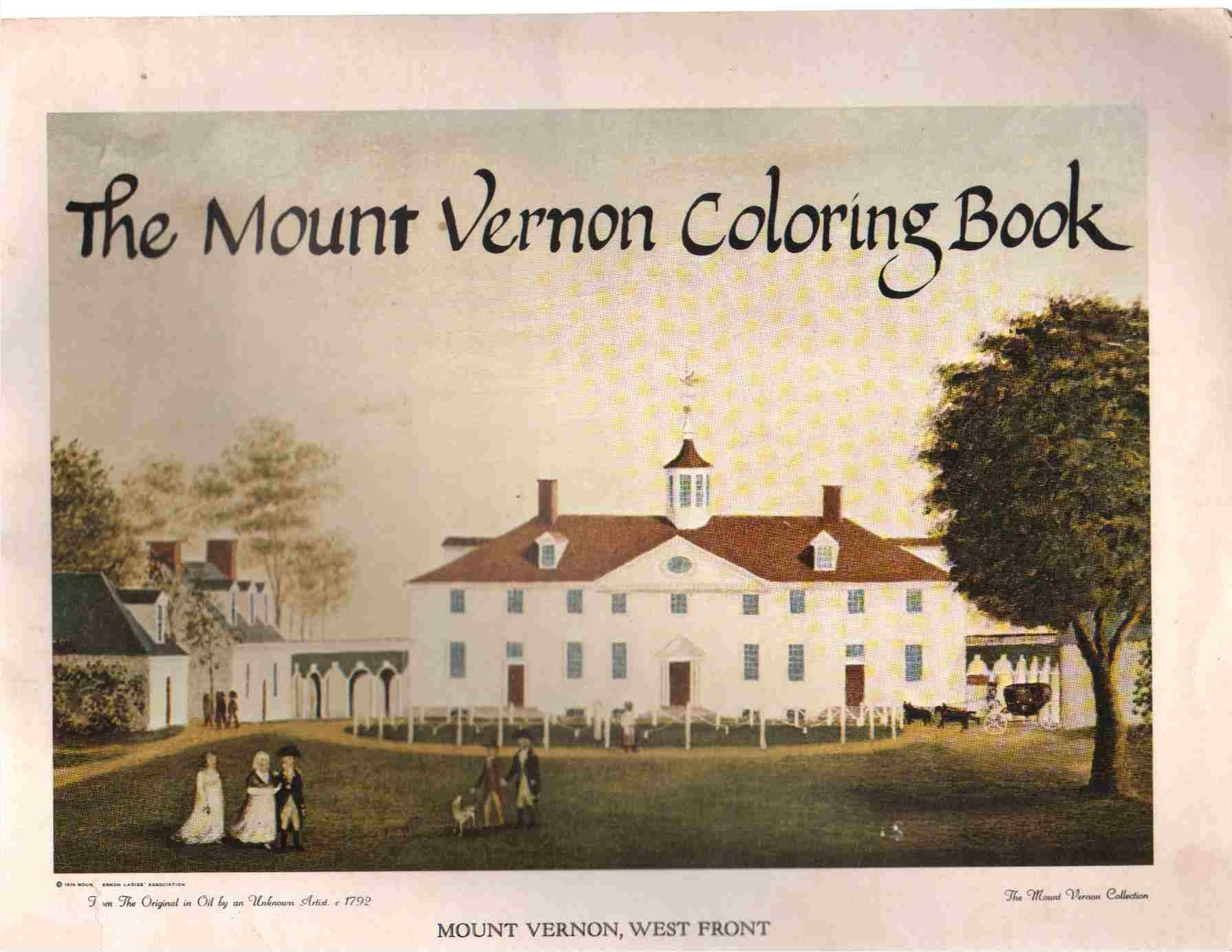 MOUNT VERNON COLORING BOOK
