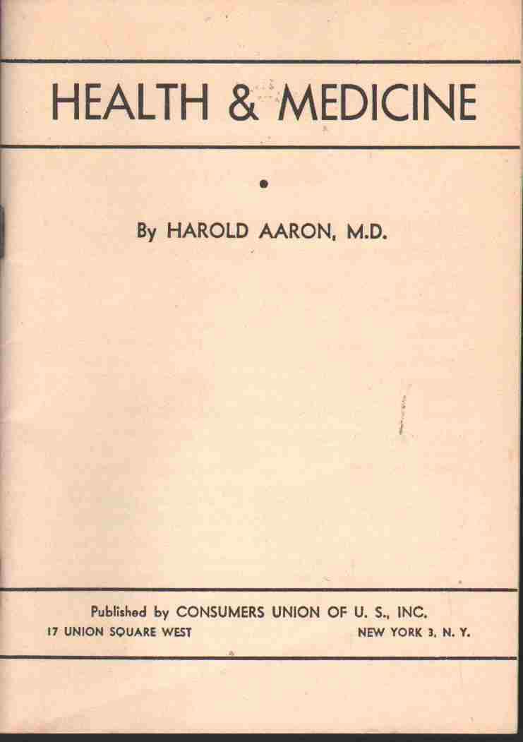 HEALTH & MEDICINE,, Aaron, Harold