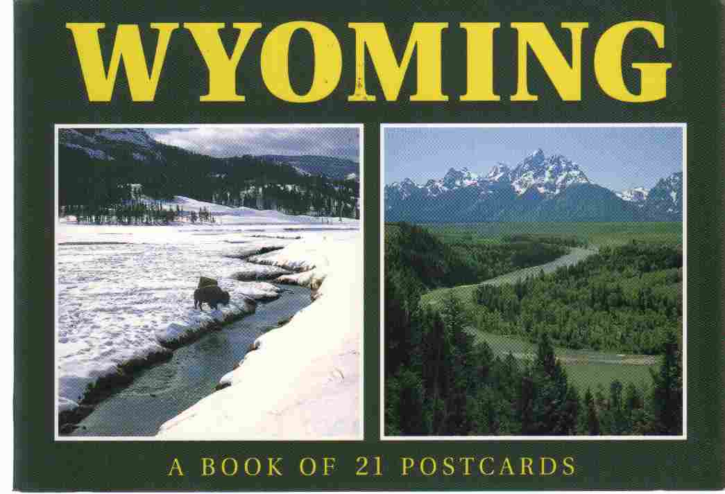 WYOMING A Book of 21 Postcards