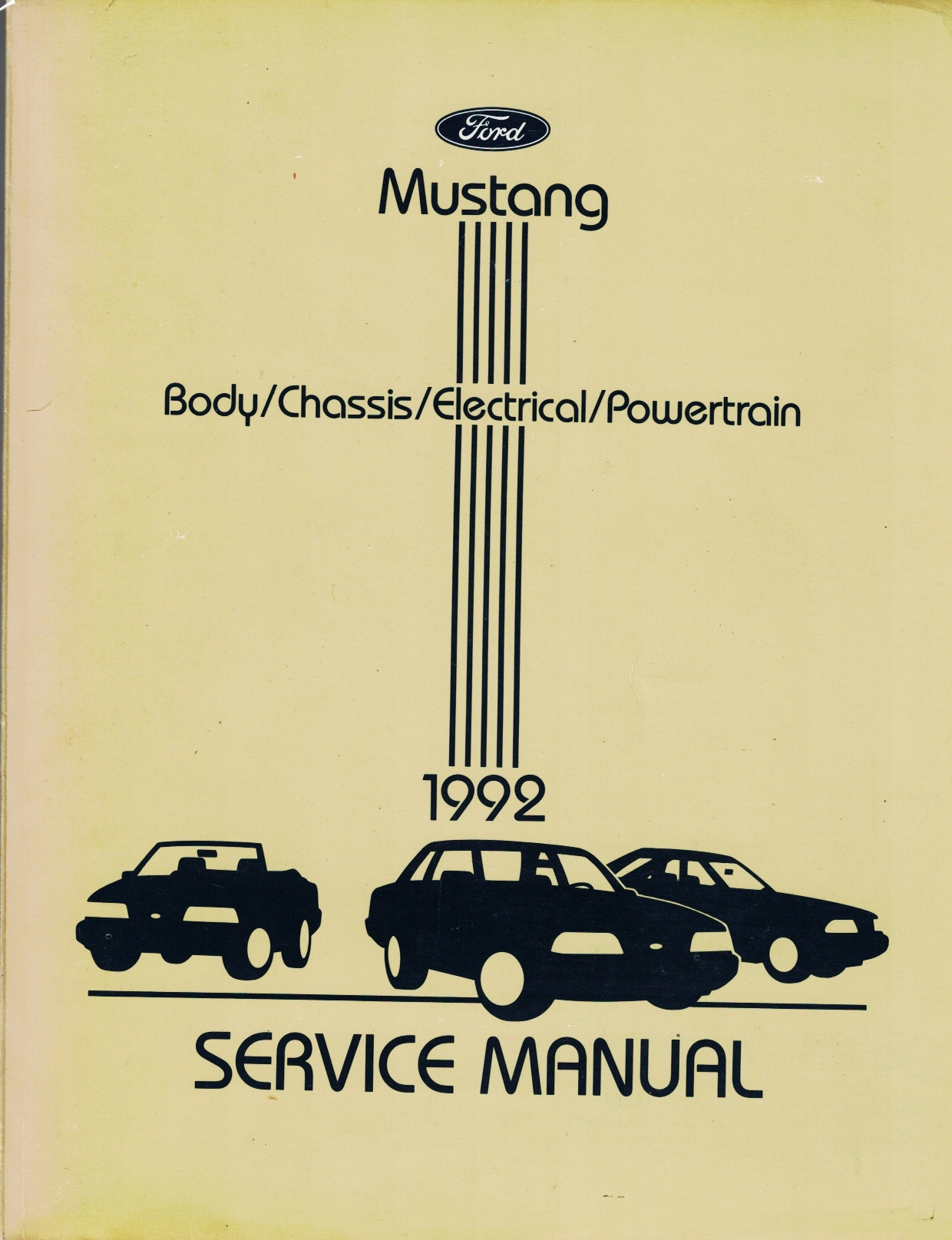 Image for Ford 1992 Mustang Service Manual: Body / Chassis / Electrical / Powertrain