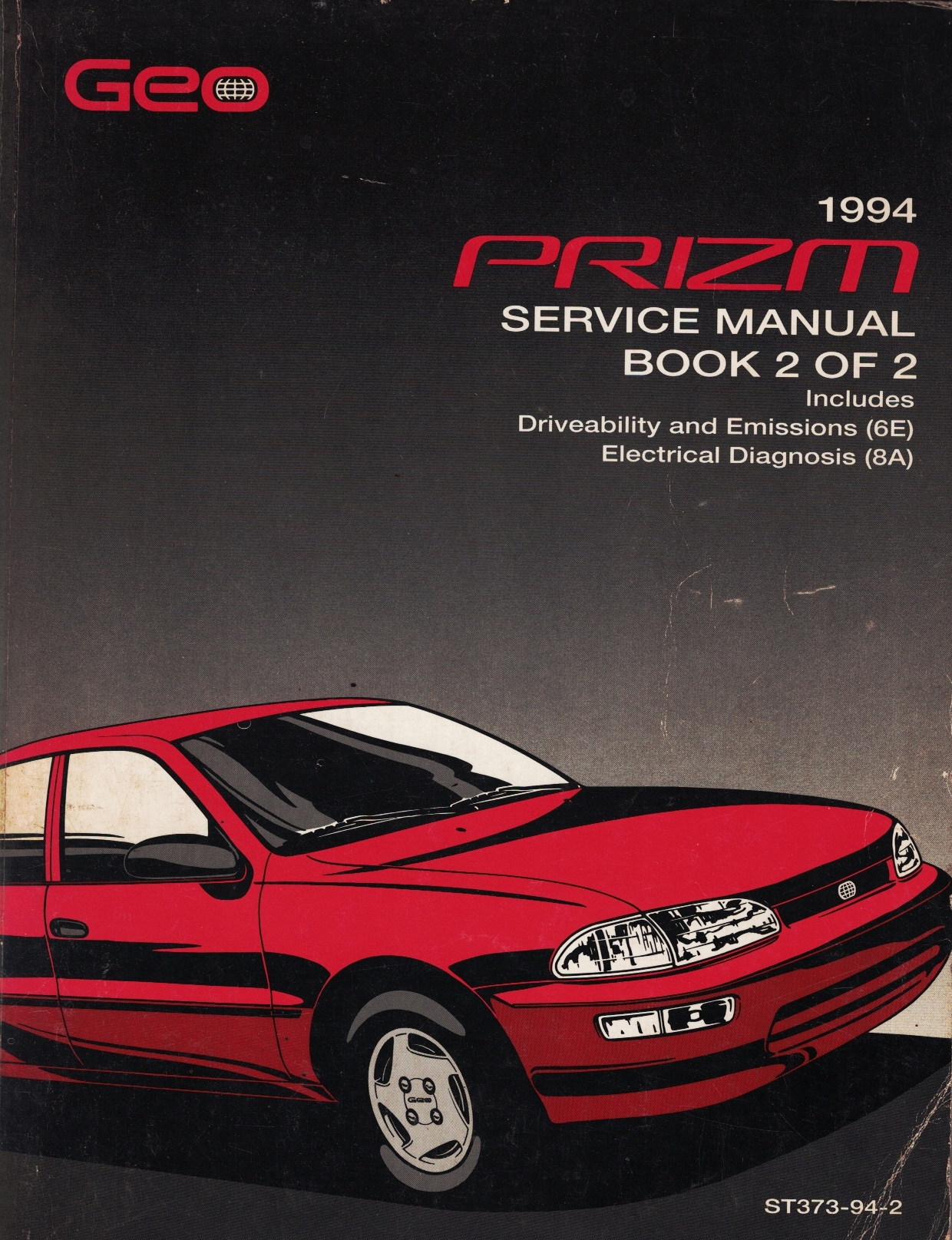Image for 1994 Geo Prizm Service Manual Book 2 of 2 (Volume 2 ONLY)