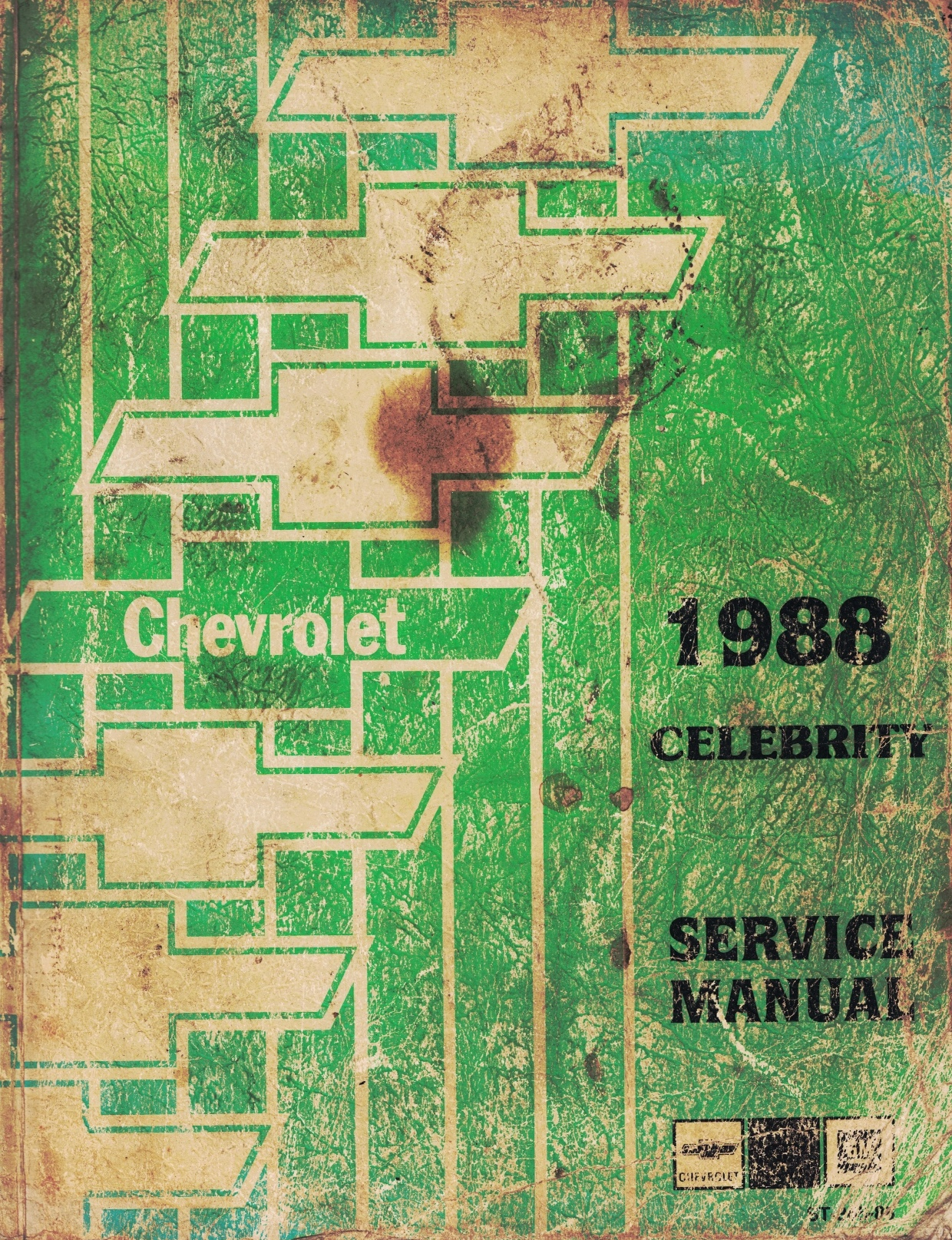 "Image for 1988 Chevrolet Celebrity Service Manual - 2 Volume Set; includes the ""Service Manual"", and the ""Electrical Diagnosis Service Manual Supplement"""