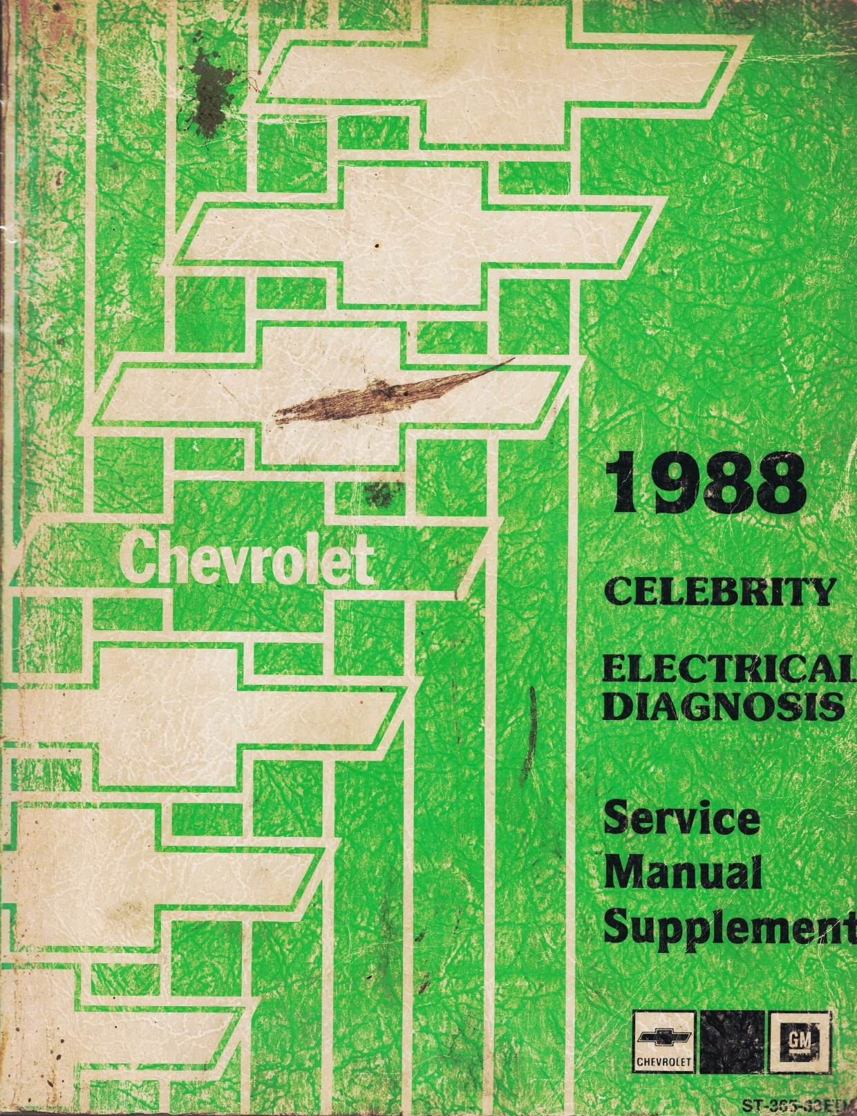 """Image for 1988 Chevrolet Celebrity Service Manual - 2 Volume Set; includes the """"Service Manual"""", and the """"Electrical Diagnosis Service Manual Supplement"""""""