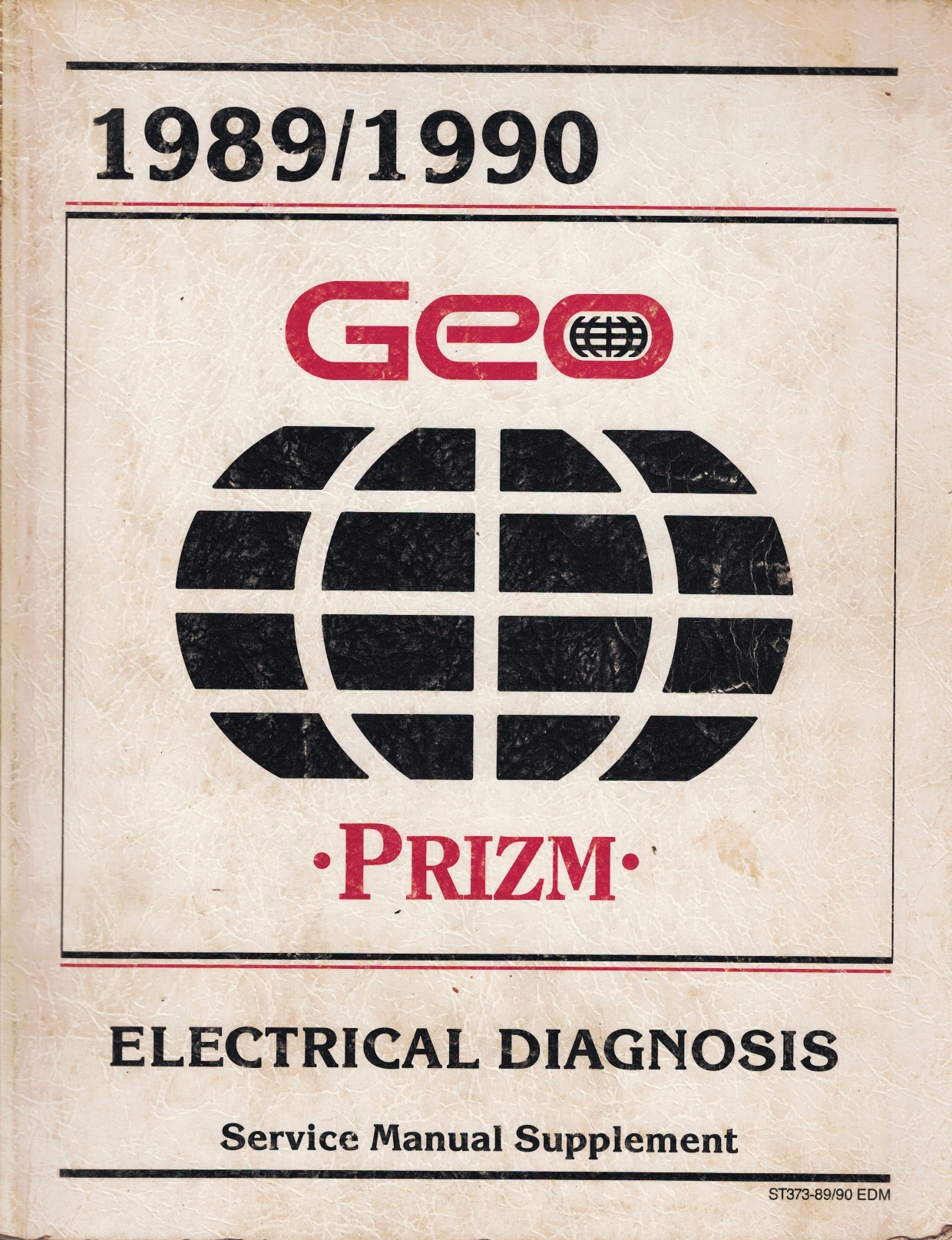 """Image for 1989 / 1990 Geo Prizm Service Manual - 2 Volume Set; includes the """"Service Manual"""", and the """"Electrical Diagnosis Service Manual Supplement"""""""