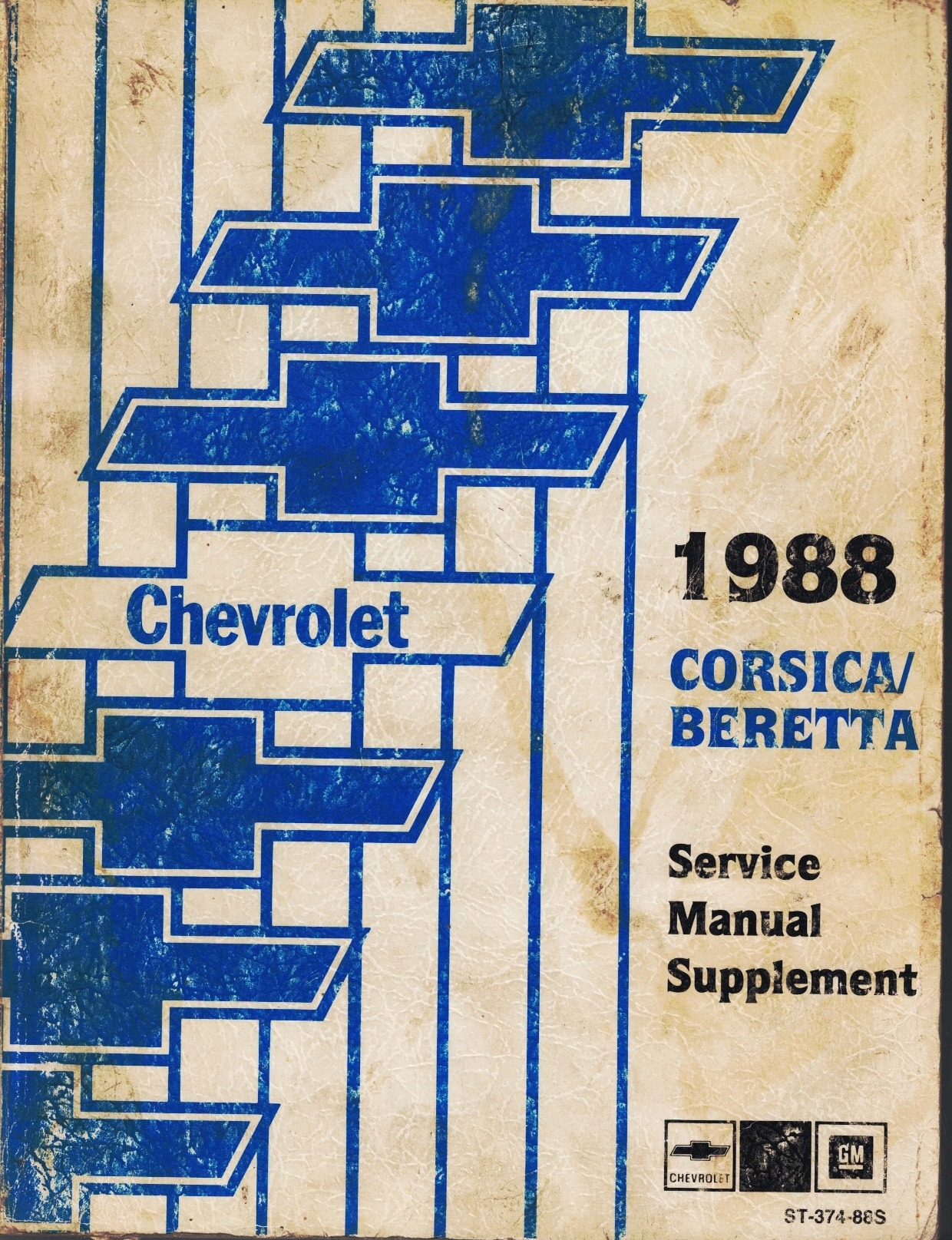"""Image for 1987 / 1988 Chevrolet Corsica / Beretta Service Manual - 3 Volume Set; includes the """"1987/1988 Service Manual"""", the """"1988 Service Manual Supplement"""", and the """"1988 Electrical Diagnosis Service Manual Supplement"""""""