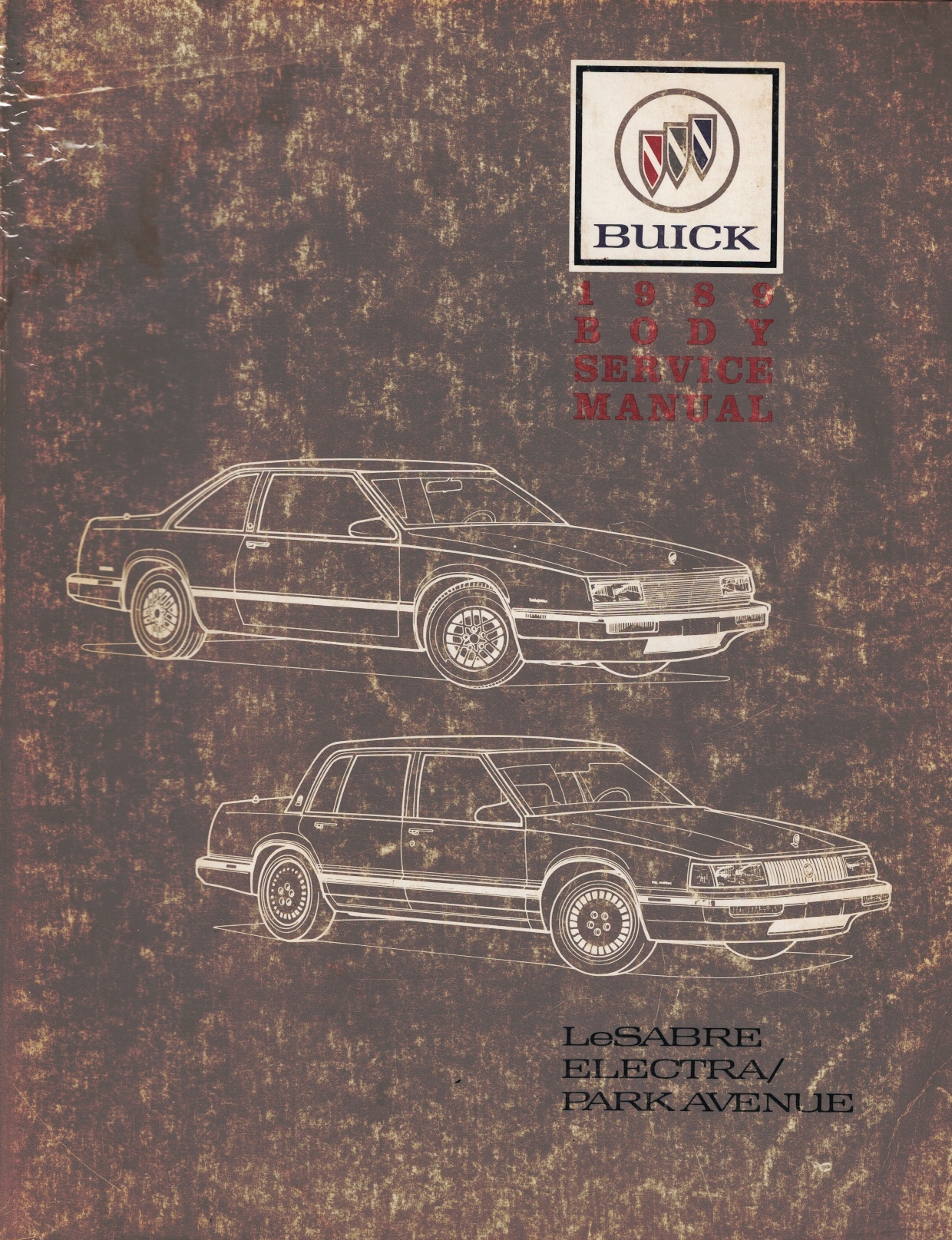 """Image for 1989 Buick LeSabre, Electra / Park Avenue Service Manual - 2 Volume Set; includes the """"Service Manual"""", the """"Body Service Manual"""""""