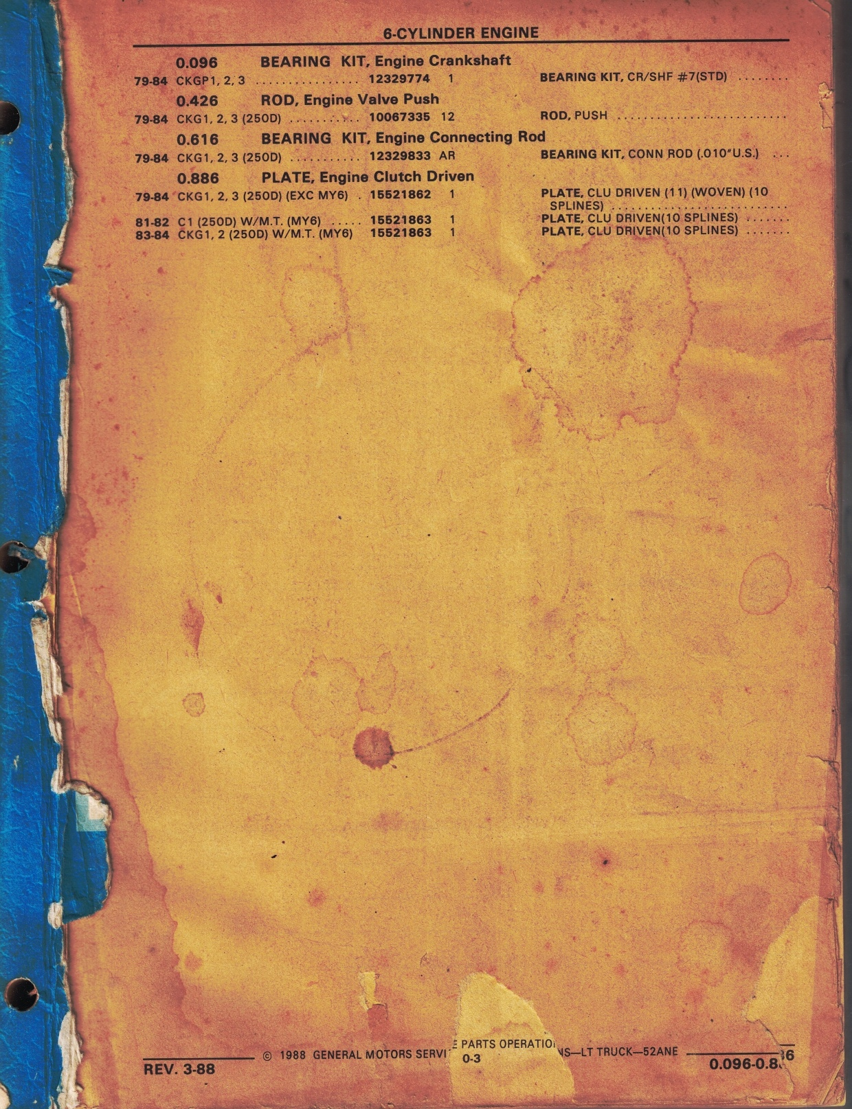 Image for [1979 - 1984] Chevrolet, GMC C, K, G, P Light Truck Parts Catalog [Includes Sections 0 - 9, 16, 17]