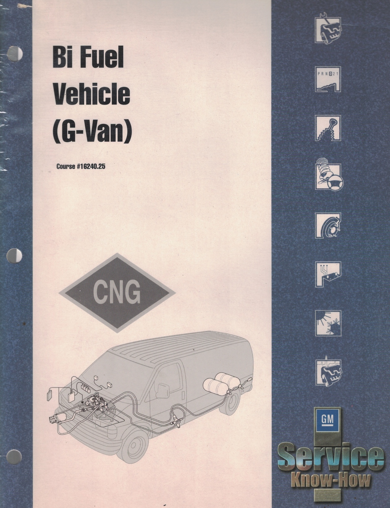 Image for 2001 G-Van Bi-Fuel Vehicle (CNG). Course #16240.25 [GM Service Know-How training manual]