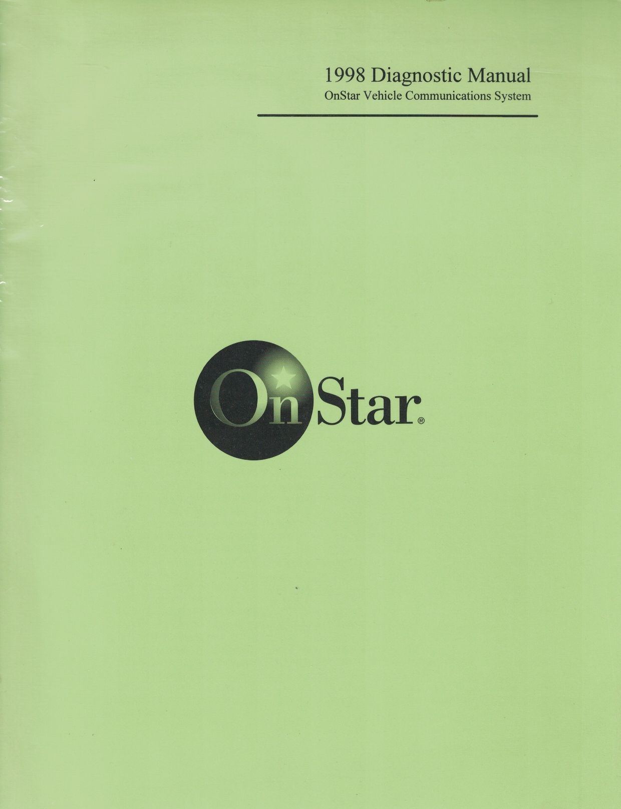 Image for 1998 OnStar Diagnostic Manual: OnStar Vehicle Communications System [GM Vehicles]