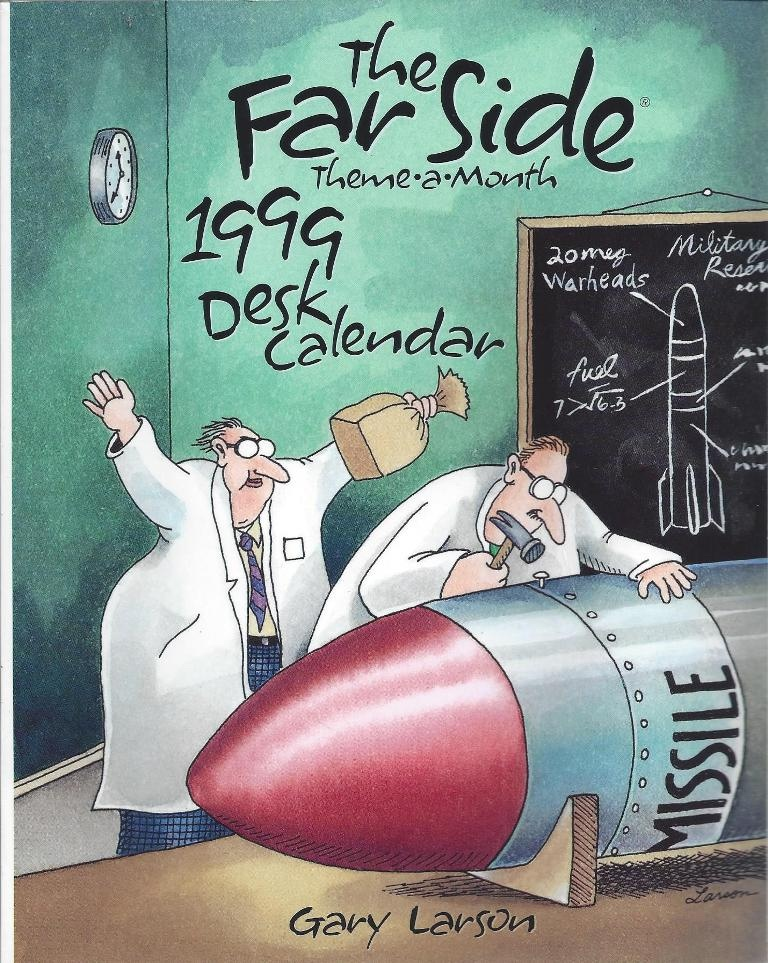 The Far Side Theme-a-month 1999 Desk Calendar, Larson, Gary