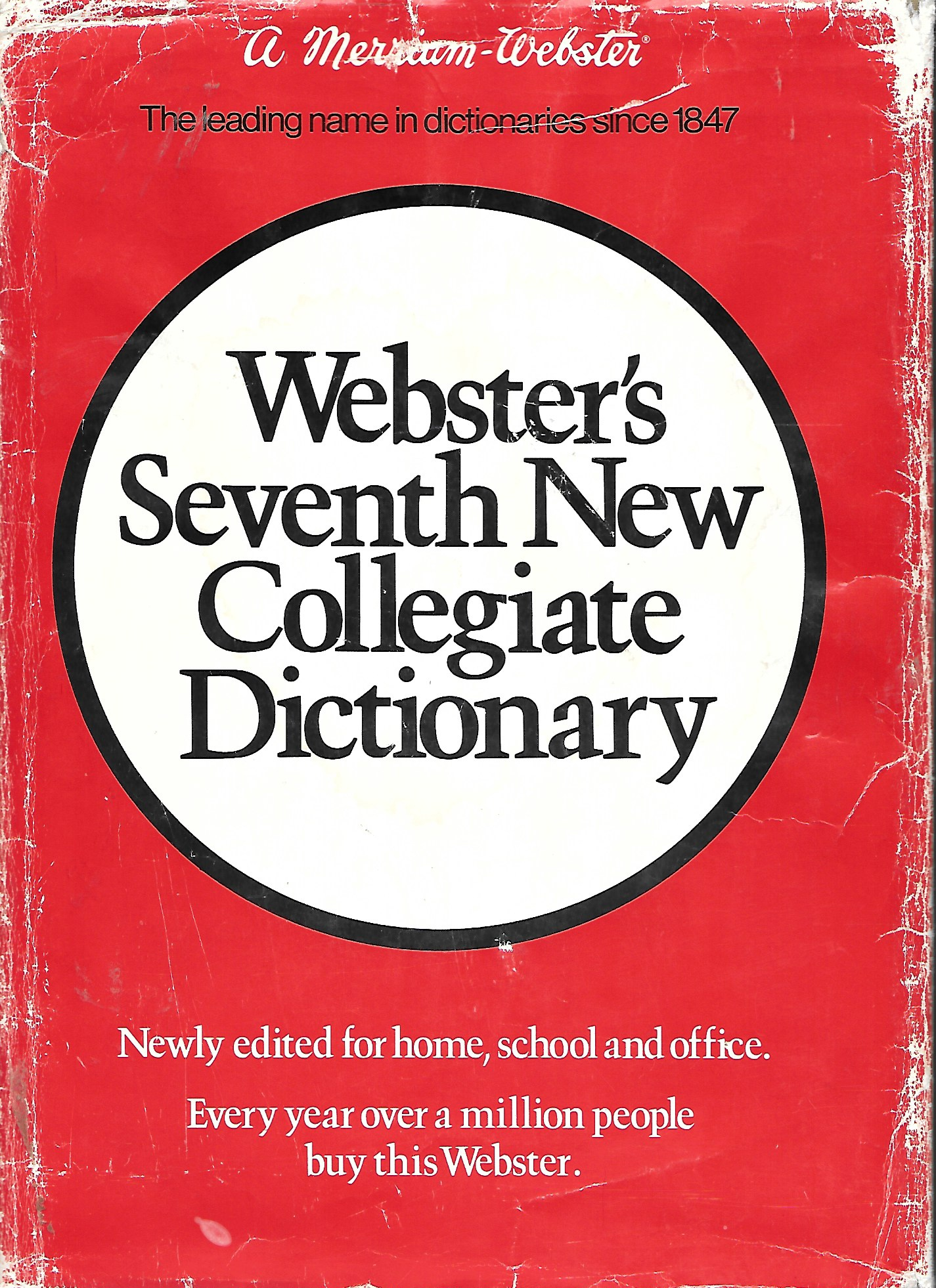 Image for Webster's Seventh New Collegiate Dictionary A Merrian Webster