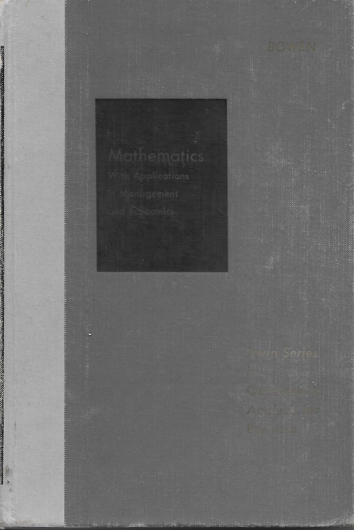 Image for Mathematics With Applications in Management and Economics