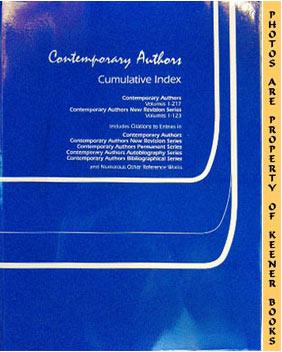 Image for Contemporary Authors: Cumulative Index
