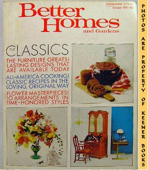Image for Better Homes And Gardens Magazine (October 1970 Vol. 48, No. 10 Issue)