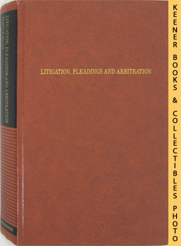 Image for Litigation, Pleadings And Arbitration