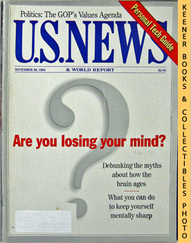 Image for U. S. News & World Report Magazine - November 28, 1994 (Are You Losing Your Mind?)