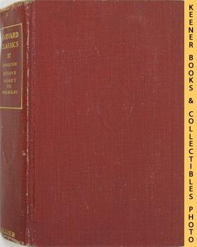 Image for Harvard Classics Volume 27 (English Essays - Sir Philip Sidney To Macaulay): Harvard Classics Series
