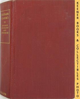 Image for Harvard Classics Volume 28 (Essays English And American): Harvard Classics Series
