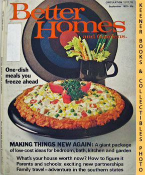 Image for Better Homes And Gardens Magazine (September 1972 Vol. 50, No. 9 Issue)