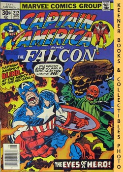 Image for Marvel Captain America And The Falcon: The Face Of A Hero! Yours!! -- Vol. 1 No. 212, August 1977