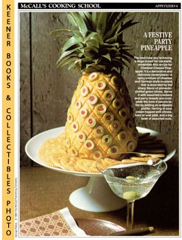 Image for McCall's Cooking School Recipe Card: Appetizers 6 - Cheddar-Cheese Pineapple (Replacement McCall's Recipage or Recipe Card For 3-Ring Binders): McCall's Cooking School Cookbook Series