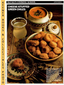 Image for McCall's Cooking School Recipe Card: Appetizers 11 - Chiles Rellenos (Replacement McCall's Recipage or Recipe Card For 3-Ring Binders): McCall's Cooking School Cookbook Series
