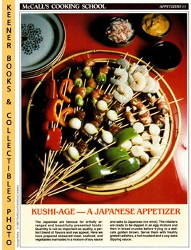 Image for McCall's Cooking School Recipe Card: Appetizers 13 - Skewered Japanese Nibblers (Replacement McCall's Recipage or Recipe Card For 3-Ring Binders): McCall's Cooking School Cookbook Series