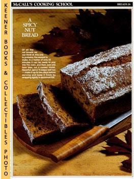 Image for McCall's Cooking School Recipe Card: Breads 26 - Pumpkin-Nut Bread (Replacement McCall's Recipage or Recipe Card For 3-Ring Binders): McCall's Cooking School Cookbook Series