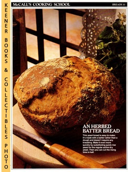 Image for McCall's Cooking School Recipe Card: Breads 33 - Herb-Parmesan Bread (Replacement McCall's Recipage or Recipe Card For 3-Ring Binders): McCall's Cooking School Cookbook Series