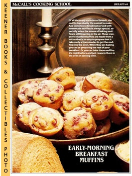 Image for McCall's Cooking School Recipe Card: Breads 44 - Cranberry Muffins (Replacement McCall's Recipage or Recipe Card For 3-Ring Binders): McCall's Cooking School Cookbook Series