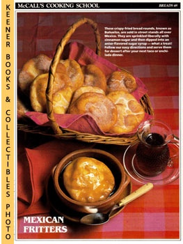 Image for McCall's Cooking School Recipe Card: Breads 48 - Buneulos With Anise-Sugar Syrup (Replacement McCall's Recipage or Recipe Card For 3-Ring Binders): McCall's Cooking School Cookbook Series