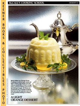Image for McCall's Cooking School Recipe Card: Desserts 33 - Orange Snow Pudding (Replacement McCall's Recipage or Recipe Card For 3-Ring Binders): McCall's Cooking School Cookbook Series