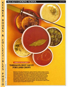 Image for McCall's Cooking School Recipe Card: Sauces 6 - Tarragon-Mint Sauce For Lamp Chops (Replacement McCall's Recipage or Recipe Card For 3-Ring Binders): McCall's Cooking School Cookbook Series