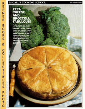 Image for McCall's Cooking School Recipe Card: Vegetables 11 - Broccoli-And-Cheese Pie (Replacement McCall's Recipage or Recipe Card For 3-Ring Binders): McCall's Cooking School Cookbook Series