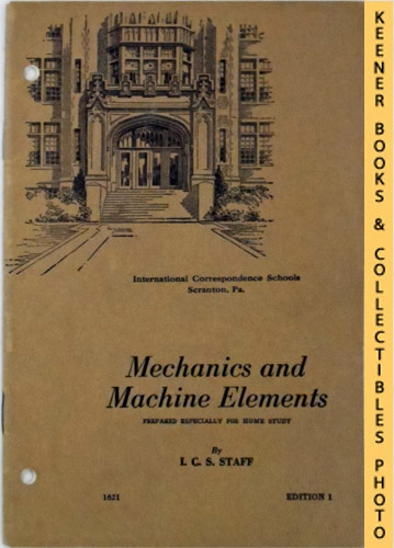 Image for Mechanics And Machine Elements