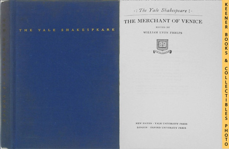 Image for The Merchant Of Venice: The Yale Shakespeare Series
