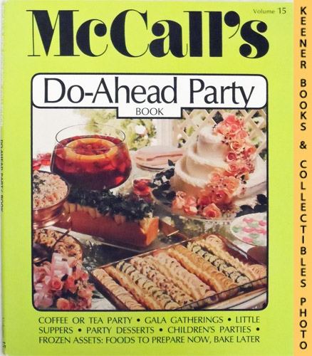 Image for McCall's Do-Ahead Party Book, Vol. 15: McCall's New Cookbook Collection Series