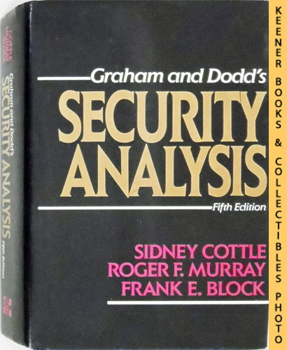 Image for Graham and Dodd's Security Analysis