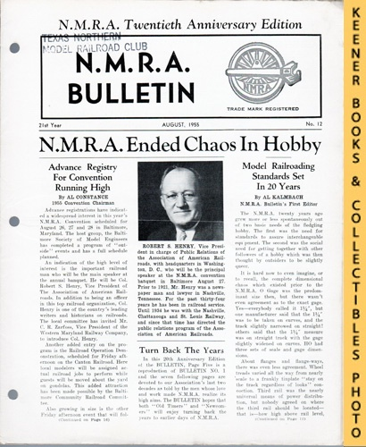 Image for NMRA Bulletin Magazine, August 1955 (21th Year No. 12): Official Publication of the National Model Railroad Association Series
