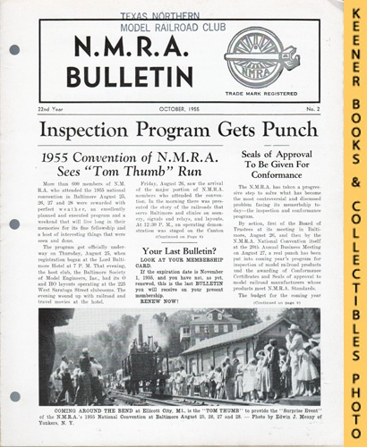 Image for NMRA Bulletin Magazine, October 1955 (22nd Year No. 2): Official Publication of the National Model Railroad Association Series
