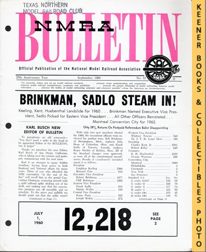 Image for NMRA Bulletin Magazine, September 1960 (25th Anniversary Year No. 12): Official Publication of the National Model Railroad Association Series