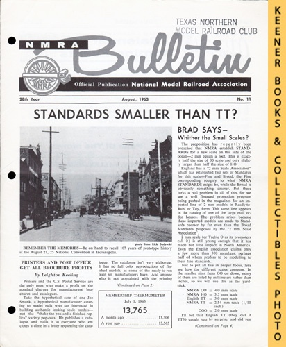 Image for NMRA Bulletin Magazine, August 1963 (28th Year No. 11): Official Publication of the National Model Railroad Association Series