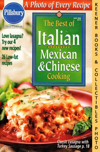 Image for Pillsbury Classic #215: The Best Of Italian Mexican & Chinese Cooking: Pillsbury Classic Cookbooks Series