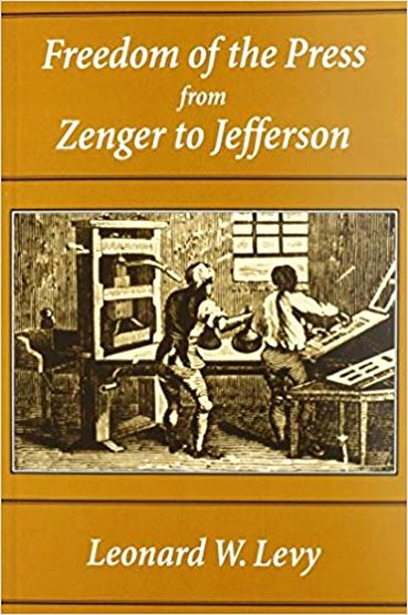 Image for Freedom of the Press from Zenger to Jefferson